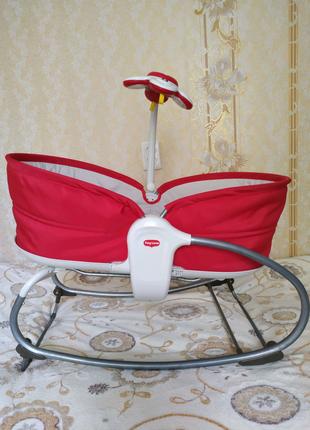 Люлька кресло-качалка баунсер шезлонг укачивающий центр tiny love