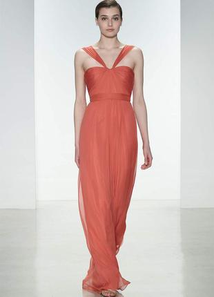 Выпускное платье американского дизайнера   натуральный шелк