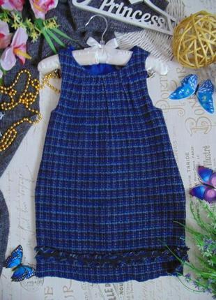 4-5лет.шикарный фактурный сарафан zara.мега выбор обуви и одежды!