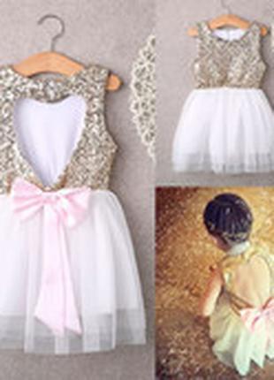 Детское нарядное платье с оригинальной спинкой, 2-8 лет, новое