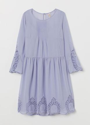 Платье с вышивкой h&m