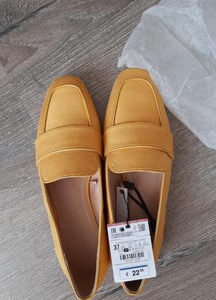 Стильные туфли лоферы под замш