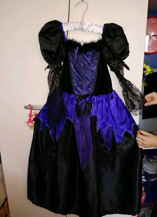 Платье карнавальное. Платье ведьмочки. Паучиха. Хеллоуин