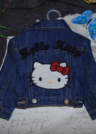 Модная джинсовая куртка пиджак hello kitty.мега выбор обуви и ...