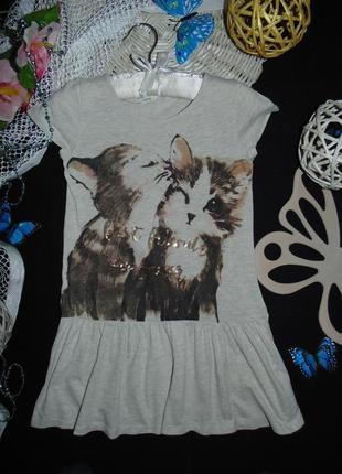 Нежное трикотажное платье h&m.mега выбор обуви и одежды!
