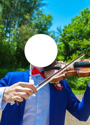 Синий электрик костюм Свадебный на выпускной размер L