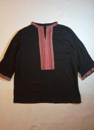 Вышиванка мужская черная сорочка