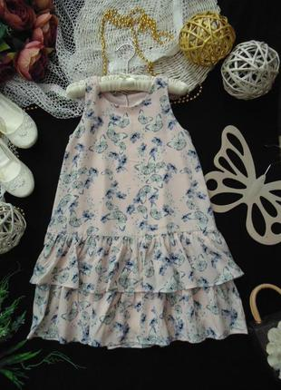 6-7лет.шикарное шифоновое платье h&m.мега выбор обуви и одежды!