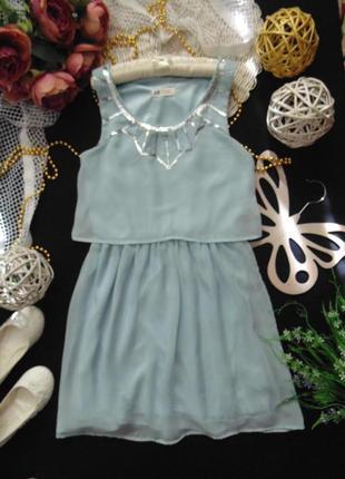 Шикарное нарядное шифоновое платье h&m.mега выбор обуви и одежды!