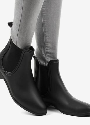 Чорні гумові чоботи yj-13