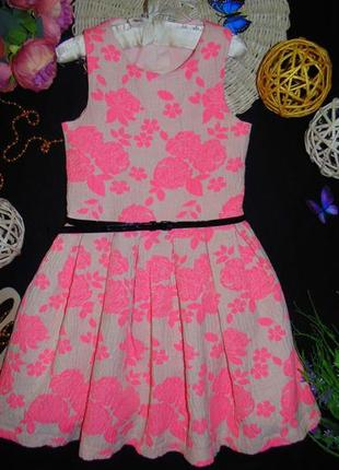 10лет.яркое нарядное платье river island.мега выбор обуви и од...