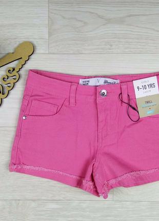 Джинсовые шорты на девочек 9-10 лет