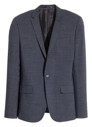 Темно-синий пиджак h&m, skinny fit !