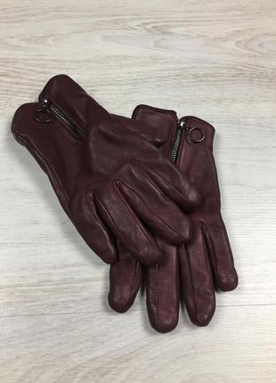 Фирменные женские кожаные перчатки!