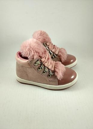 Стильные ботинки для девочек с.луч