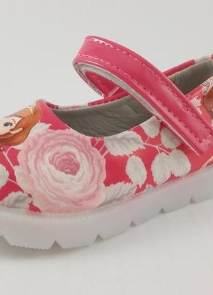 Очень симпатичные туфельки фирмы bbt с принтом принцессы софии...
