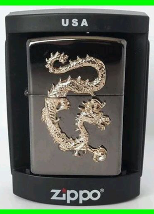 Зажигалка ZIPPO Бензиновая (Gold Dragon)