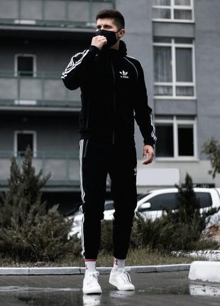 Мужской спортивный костюм Adidas Zipper Treeze черный