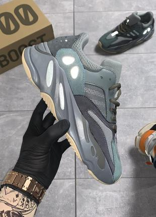 Кроссовки adidas yeezy boost 700 teal blue