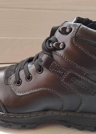Ботинки зимние kangfu black 36p/37p/38p