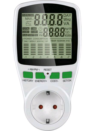 Ваттметр Intertek Power Meter Cat 2 (PP-3455)Двухтарифный ваттмер
