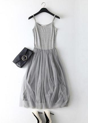 Платье с фатином , сарафан