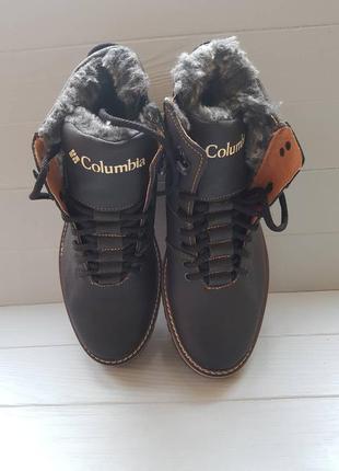 Зимние ботинки columbia black brown кожа 40p/44p/45p