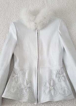Куртка женская кожаная, р-р S-М