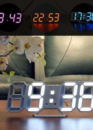 Электронные 3D LED настольные/настенные часы