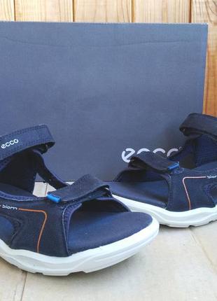 Новые кожаные удобные сандалии босоножки ecco biom оригинал