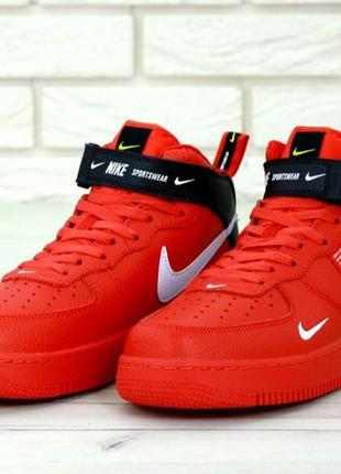 Мужские кроссовки nike air force 1 tm red