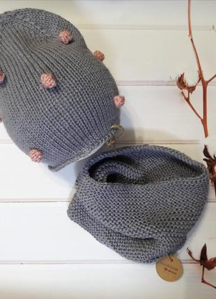 Hand made шапка снуд для девочки для мальчика
