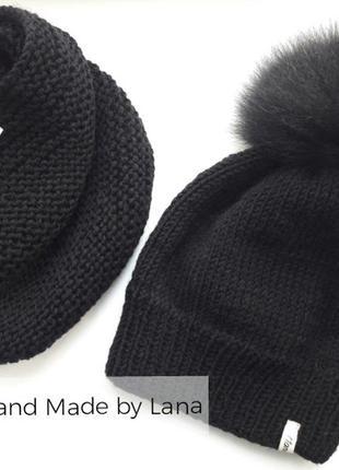 Hand made шапка для девочки шарф детский женская шапка
