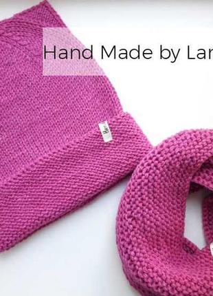 Hand made  шапка для девочки снуд для девочки шарф для девочки