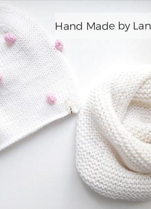 Hand made шапочка для девочки шапка детская