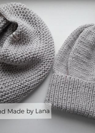 Hand made шапка для девочки снуж детский
