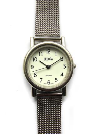 Becora часы из сша стальной мягкий браслет механизм japan sii