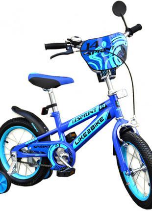 Двухколесный детский велосипед 18 дюймов Like2bike Sprint 191835