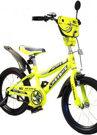Двухколесный детский велосипед 16 дюймов Like2bike Sprint 191631