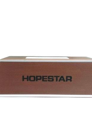 Портативная bluetooth колонка спикер Hopestar H28 Светло-коричнев