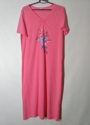 Домашнее платье ночная рубашка ночнушка