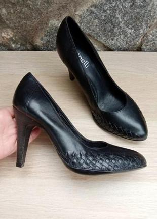 Туфли 100% кожа minelli с плетением как bottega veneta