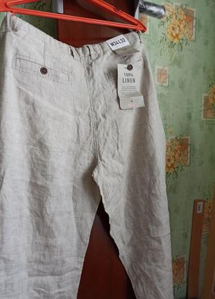 Мужские льняные брюки Next