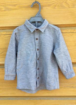 Рубашка для мальчика, серая рубашка