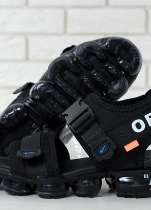Off white x nike air vapormax sandals, мужские сандали найк