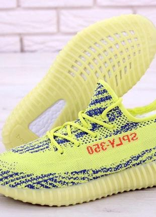 Мужские кроссовки ad yeezy 350 yellow, адидас изи буст .