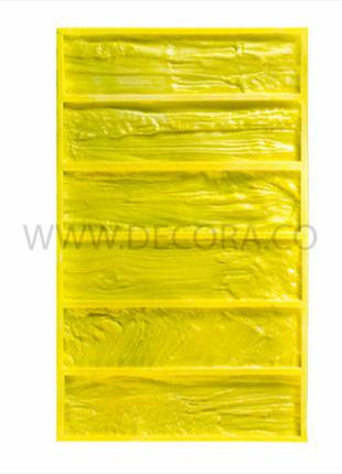 Полиуретановая форма для плитки кирпича из гипса «Древесный скол