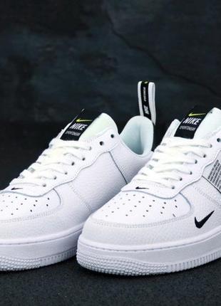 Мужские кроссовки nike air force 1 tm white black low