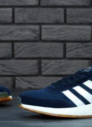 Мужские кроссовки ad originals iniki runner boost dark blue