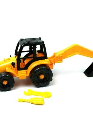 Машинка конструктор Трактор-экскаватор
